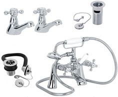 Designer Taps from leading designers. Bathroom and Kitchen goods for the UK. Showers, Taps and more. Shop here for real value on modern and traditional taps. Bath Taps, Bathroom Taps, Cool Kitchens, Basin, Shower, Modern, Rain Shower Heads, Trendy Tree, Showers