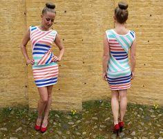 Minikleider - Kleid Streifen - ein Designerstück von JAQUEEN-handmade-streetwear-berlin bei DaWanda