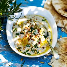 Moutabal (also known as baba ganoush) is made with aubergines, tahini, pine nuts and plenty of garlic.