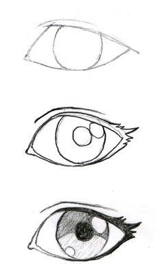 Como dibujar//Ojos                                                                                                                                                                                 Más