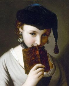 Girl With a Book, by Pietro Antonio Rotari (1707-1762)