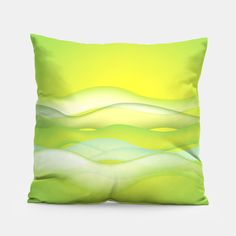 Lime green waves Pillow Crazy Home, Pillow Sale, Unique Image, Pillow Design, Home Buying, Lime, Waves, Throw Pillows, Green