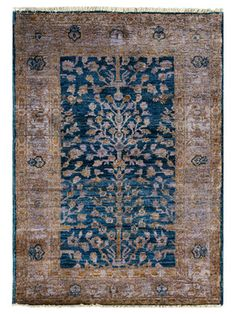 Ella Vintage Overdyed Hand-Knotted Area Rug by nuLOOM on Gilt Home