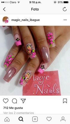 Butterfly Nail, Nail Designs, Nail Art, Nails, Ideas, Art Nails, Nail Ideas, Designed Nails, Stickers