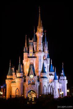 Disney Photograph - Cinderella's Castle In Magic Kingdom by Adam Romanowicz Disney Wall Art, Disney Fine Art, Walt Disney World, Disney Pixar, Disney Magic, Sleeping Beauty Castle, Cinderella Castle, Princess Castle, Disney Princess