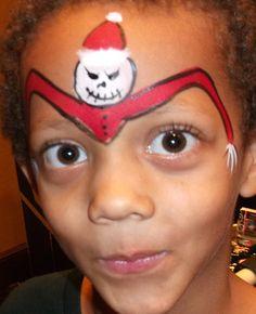 Boy Christmas Face Paint Design