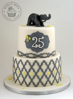 25th birthday cake without the elephant, lol!