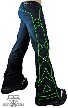 Aurora Pants Black/UV Green