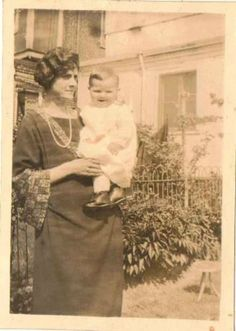 Old Vintage Antique Photograph Mom Holding Cute Little Baby