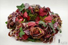 DIY-Deko: Wunderschöne Rosen aus Blättern     A Little Fashion