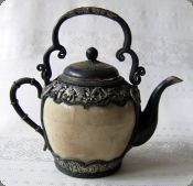 Early 20th Century Decorated Ceramic Teapot,