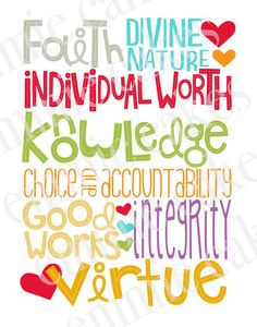 YW Values. So Cute!
