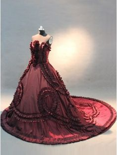 This Strapless Burgundy Wedding Dress is one of the most elegant wedding dresses you will ever see. Visit http://www.okdressgown.com/wedding-dresses/modest-casual-affordable-strapless-burgundy-wedding-dress-with-handmade-flowers.html#.UmFzrvW1T9U for more info.