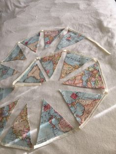 map bunting projects pinterest buntings garlands and banners