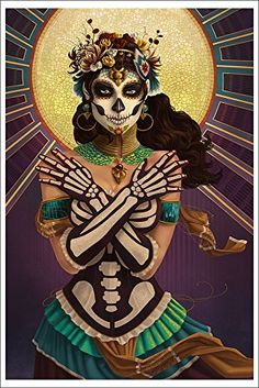 Day of the Dead - Crossbones (12x18 Art Print)