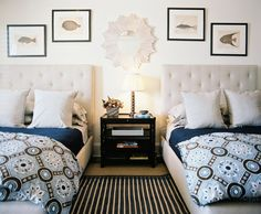 Twin twin beds, cutest duvets ever, etc. etc etc.