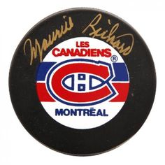 Vintage Montra Canadiens Team Old Logo Hockey Puck NHL Licensed Un-Signed