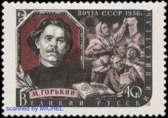 Maxim Gorki: http://d-b-z.de/web/2013/03/28/vom-lumpensammler-zum-weltautor-briefmarken-maksim-gorkij/