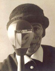 Sophie Taeuber-Arp with Dada Head, 1920.