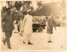 India's first President Dr. Rajendra Prasad with Y.M.Jadwet in front of Jadwet Bunglow at Chukchucha, Carnicobar island on 4th October 1954.