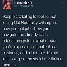 net neutrality is a terrible plan for the billionaire to make more and to screw small businesses and take away specific info that you would normally have access to Pray For Venezuela, Net Neutrality, Intersectional Feminism, Faith In Humanity, Social Justice, Food For Thought, Real Talk, In This World, Equality