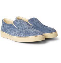 Bottega Veneta Baby blue suede shoes