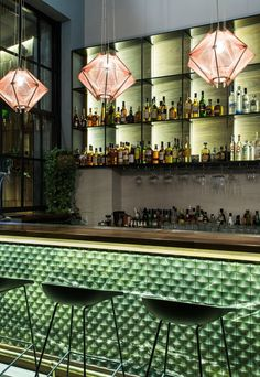 Coffee and Cocktail Bar in Athens by StudioNoh #HomeBarDecor #restaurantdesign