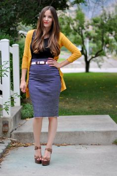 You can make this....quick stretchy pencil skirt