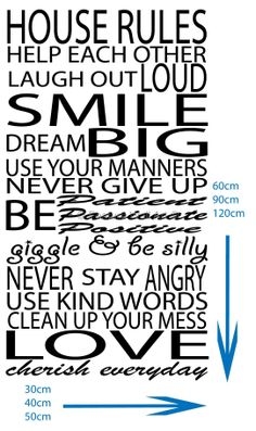 Christian Wall Stickers Quotes | house-rules-vinyl-art-wall-stickers-quotes-decal-wall-[2]-14329 ...