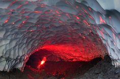 Fire & Ice - Flare in an ice cave