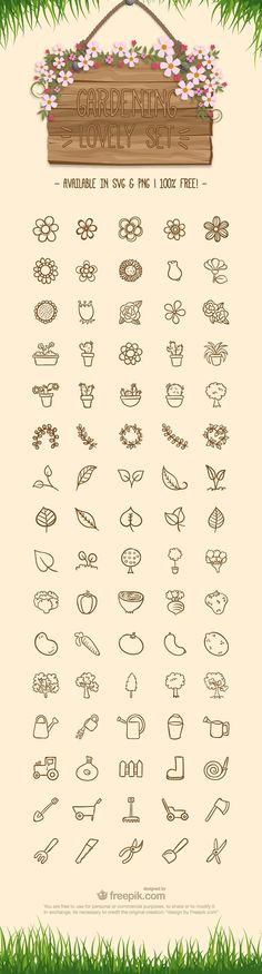 Free Gardening Icon Set - - Fribly - Free Gardening Icon Set – – Fribly Wundertastisch ∆ Art Inspiration ∆ RYAN: You could go very simple with the action set of icons and just use the tool that applies. Seed packet, pot, watering - - Tips and İdeas - Doodle Drawings, Doodle Art, Doodle Tattoo, Flower Drawings, Icon Set, Do It Yourself Inspiration, Doodles, Art Graphique, Bullet Journal Inspiration