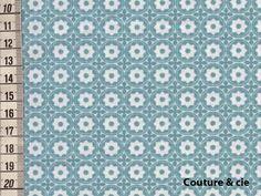 100/% Coton Tissu Moderne Petit Nuage Les nuages-Bleu Glacier-coton tissé