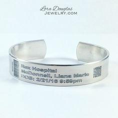 Hospital Bracelet • Customer wanted to replicate the armband from her daughters birth #jewelry #jewellery #bracelet #baby #birthday #kids #newborn #newbaby #hospital #handmade #newmom #mom #momjewelry #mothersday #silver #silverjewelry #silverjewellery