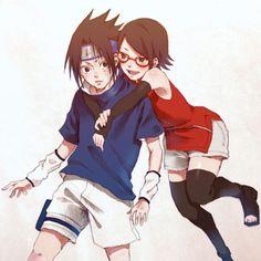 Sasuke and Sarada so adorable :3