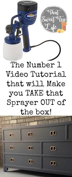 Take the guesswork out of setting up your sprayer to get a perfect sprayed finish on your project! | painted furniture | diy spray paint furniture | glaze furniture | using a sprayer | spray without compressor | wood paint colors