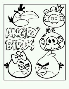 Angry Birds Coloring Book Pages