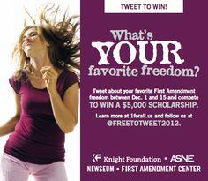 #FreetoTweet College Scholarship!  #College #Scholarships