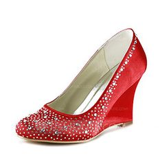 Sapatos de casamento - $87.99 - Mulher Cetim Plataforma Fechados Plataforma com Imitação de Diamantes (047020122) http://jjshouse.com/pt/Mulher-Cetim-Plataforma-Fechados-Plataforma-Com-Imitacao-De-Diamantes-047020122-g20122