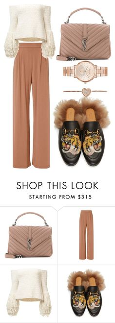 """""""Untitled #509"""" by farrahaqs on Polyvore featuring Yves Saint Laurent, Fleur du Mal, Gucci and Michael Kors"""