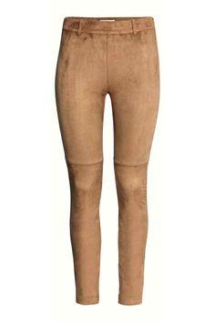 Панталон от имитация на велур | H&M