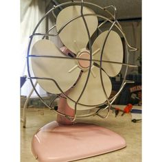 """PERFECT FOR """"HATTIE THE OLD FASHION VINTAGE FARMER'S DAUGHTER""""~~~~ A superior electric mid century fan restoration"""