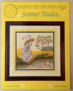 Cross My Heart Summer Maiden Counted Cross Stitch Booklet #CrossMyHeart #Frame