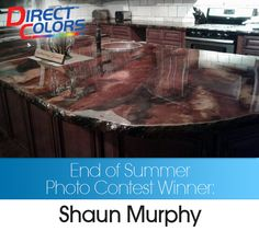 Many thanks to all our 2016 End of Summer Photo Contest entrants. We've received some fantastic projects for this year's contest and we'll be featuring them here on our website and through social media over the next several months. Check back with us soon for a detailed blog post on Mr. Murphy's countertop building, staining and sealing process so you can get started on a masterpiece of your own.  Thanks again to our customers who both participated and voted in this year's contest.