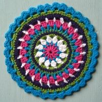 Crochet Mandala Wheel made by  Anita, New Zealand, for  yarndale.co.uk