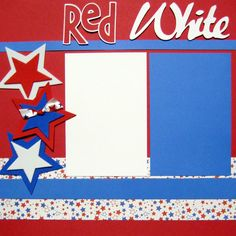 Scrapbooking Layout Fourth of July America USA by upinthenight
