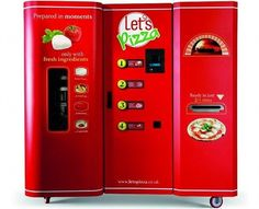 Freshly-made pizza vending machines to come to the U.S. Yes, pizza vending machines.