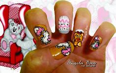 uñas osito/ bears nails