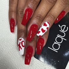 We've gathered some of the best nail art designs. You'll want to check them all … We've gathered some of the best nail art designs. You'll want to check them all …,Fake Nail Designs. Red Nail Art, Cool Nail Art, Pink Nails, Red Art, Red Acrylic Nails, Valentine's Day Nail Designs, Acrylic Nail Designs, Nails Design, Heart Nail Designs