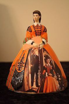 """Gone With the Wind Porcelain Scarlett O'Hara """"The Mill Dress"""" Bradford Exhange #11"""