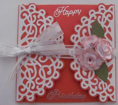 "something different Made with Spellbinders Heartfelt Creations cut and emboss die ""Layered Elegant Swirl"""